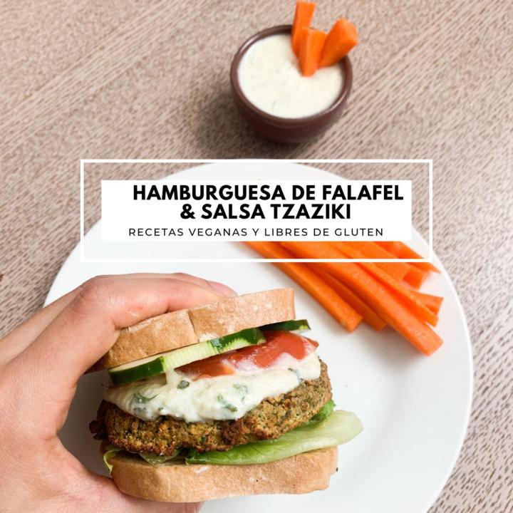 Hamburguesas de Falafel y SalsaTzatziki